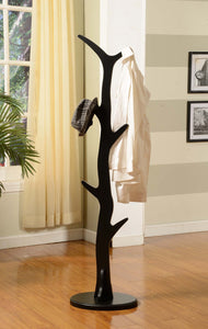 Chetwin Tree Coat & Hat Rack, Black Wood