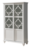 Chase Curio Cabinet, White Wood & Glass
