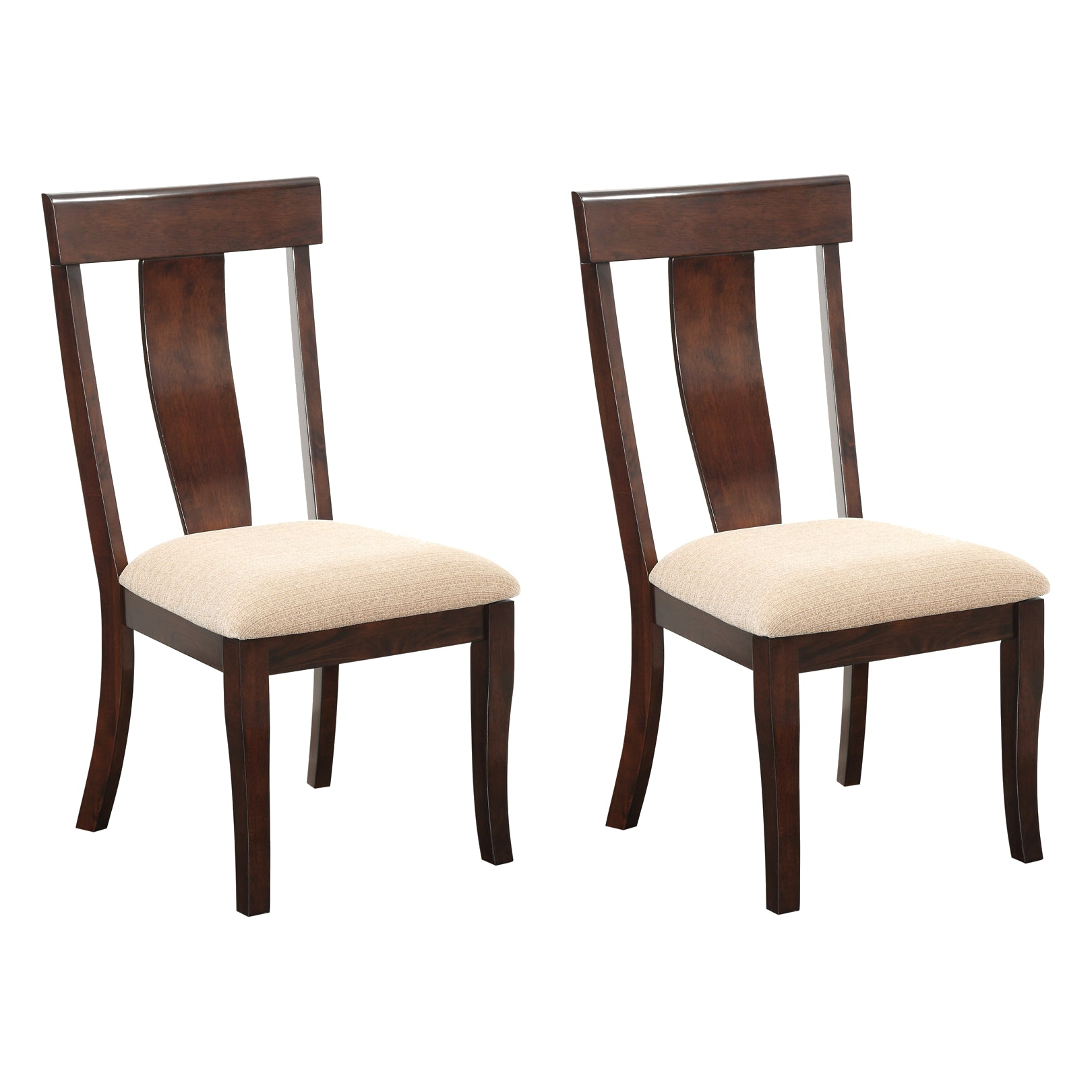 Rowena Formal Dining Room Chairs Cherry Wood Cream White