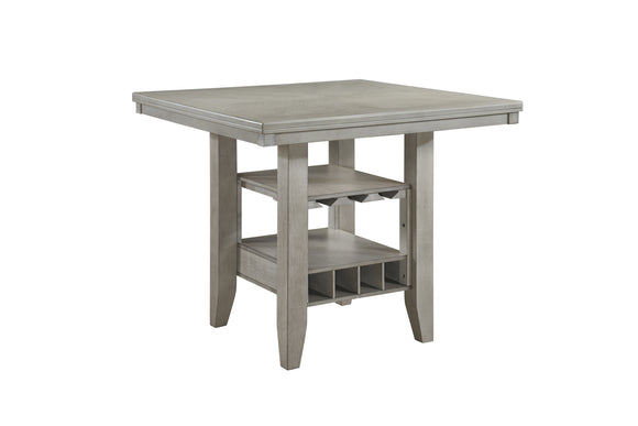 Garcia Counter Height Dining Table, Wash White Wood
