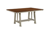 Kira Dining Table, Walnut & Smoke White Wood