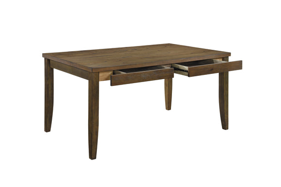 Carlino Storage Dining Table, Brown Wood