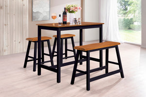 Naples Pub Set, Cherry & Black Wood