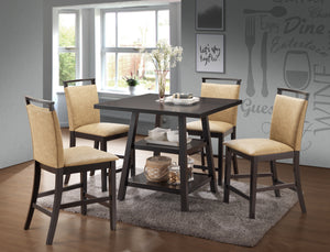 Canal Counter Height Dining Set, Cappuccino & Coffee