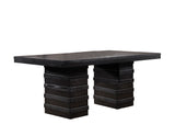 Aziza Dining Table, Cappuccino Wood