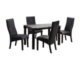 "Eugene 47"" Dining Set, Cappuccino & Black"