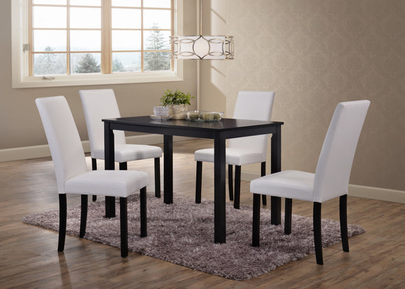 August Dining Set, Cappuccino & White