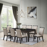 Danby Dining Table, Cappuccino Wood