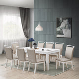 Danby Dining Table, White Wood