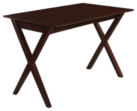 Lucca Dining Table, Cappuccino Wood