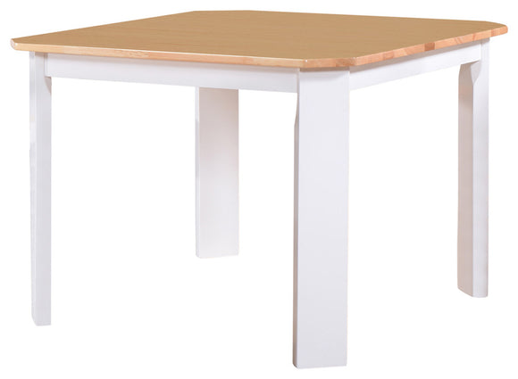 Berlin Dining Table, White & Natural Wood