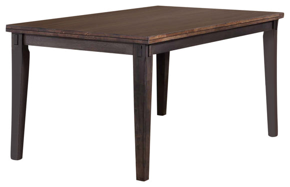 Kara Dining Table, Gray & Brown Wood