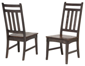 Kara Dining Chairs, Gray & Brown Wood