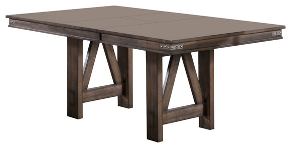 Oslo Extendable Dining Table, Brown Wood