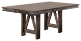 Oslo Extendable Trestle Dining Table, Brown Wood