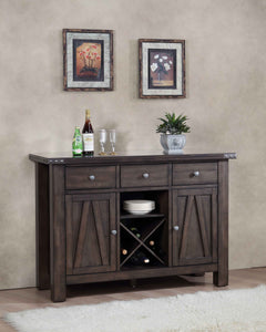 Oslo Buffet Server, Brown Wood