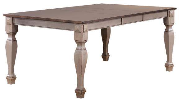 Joanna Extendable Dining Table, Brown Wood