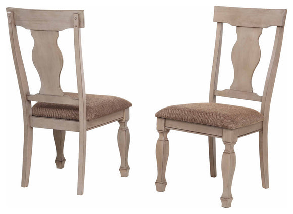 Joanna Dining Chairs, Brown Wood & Fabric