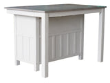 Millport Counter Height Extendable Dining Table, White & Wash Gray Wood