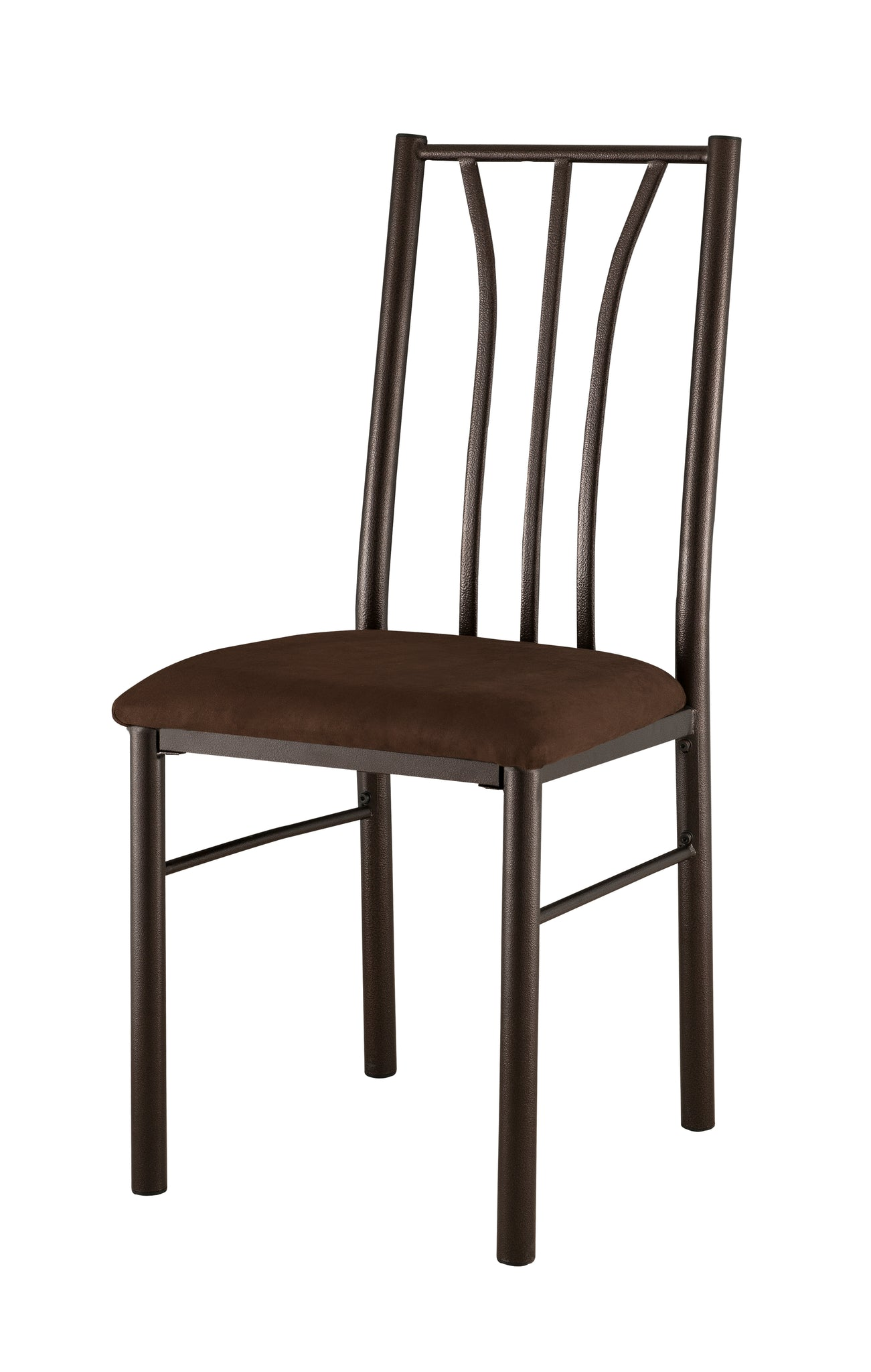 Tuscan Kitchen Dinette Dining Chairs, Cherry Metal Frame ...