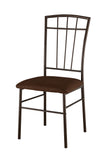 Tuscan Dining Chairs, Cherry Metal & Microfiber