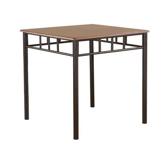 Tuscan Dining Table, Square, Cherry Metal & Wood