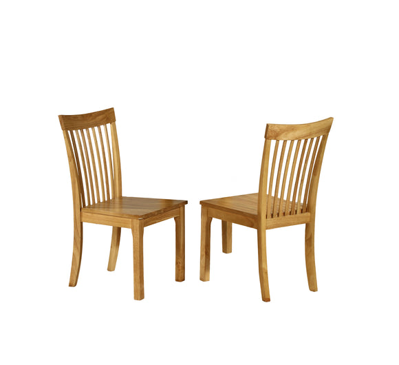 Tanya Dining Chairs, Natural Oak Solid Wood