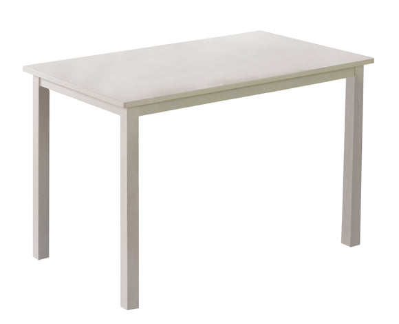 Lori Retro Dining Table, White Wood