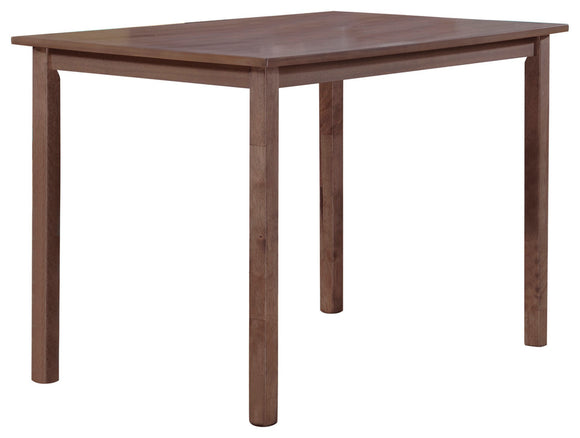Lori Retro Dining Table, Chocolate Wood