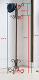 8 Hook Copper Metal Traditional Coat & Hat Rack Stand - Pilaster Designs