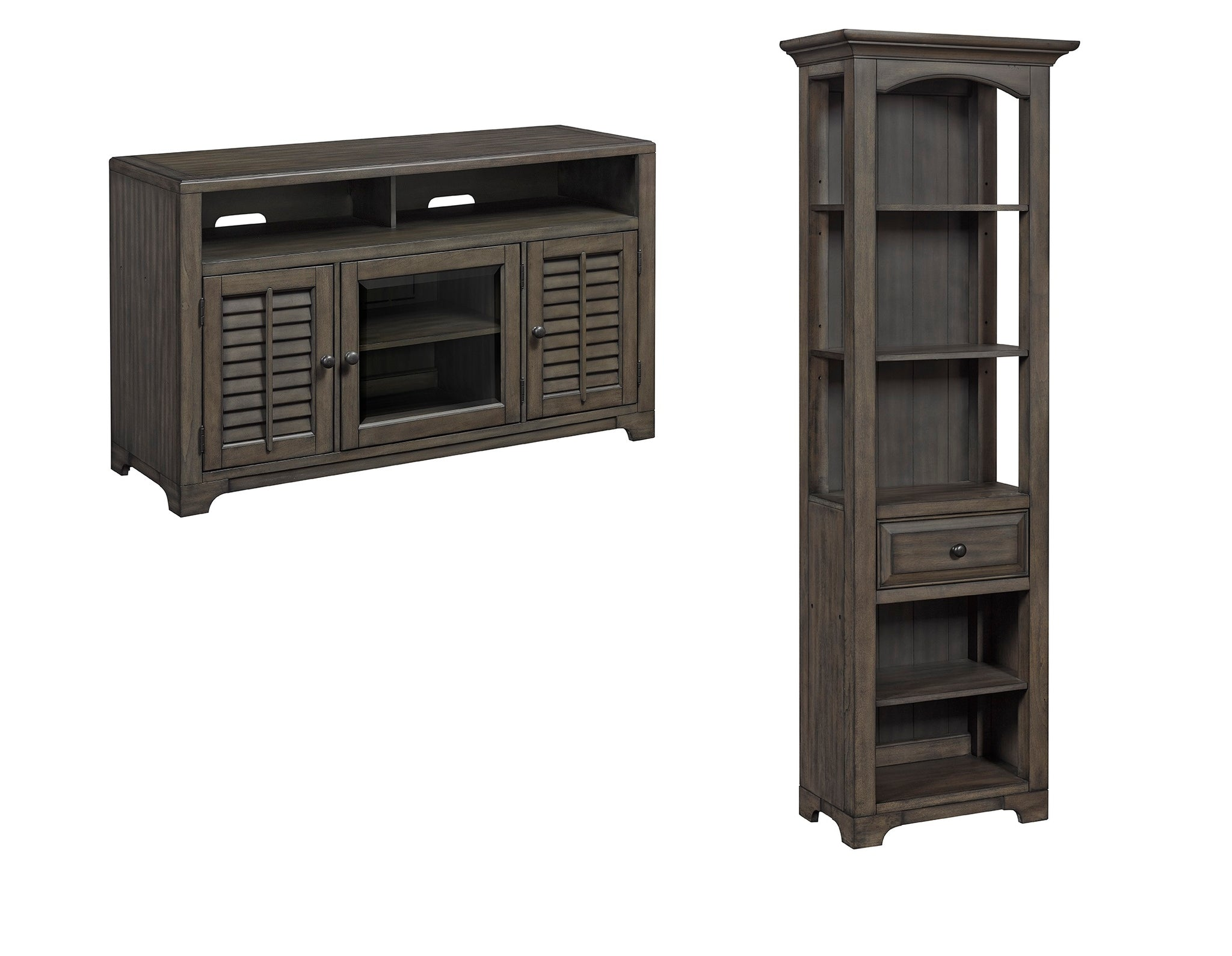tv shipping inch free westwood today stand bookcase home overstock with corner cherry bookcases product garden
