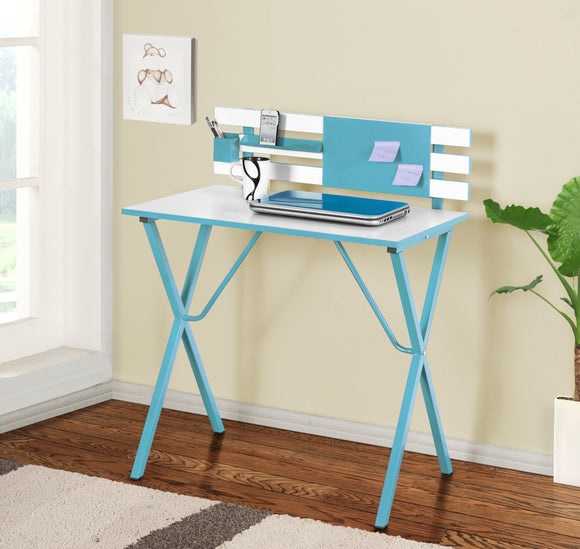 Nina Wood Kids Home & Office Computer Workstation Desk Writing Table (Blue, Green, Yellow & Red) - Pilaster Designs