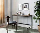 Kinley Gray & Black Industrial Style Home & Office Computer Workstation Desk - Pilaster Designs