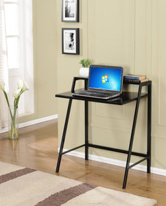 Black or White Metal & Tempered Glass Top Home & Office Computer Workstation Desk Writing Table - Pilaster Designs