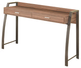 Cassidy Desk, Natural Wood & Gray Metal