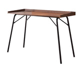 Fusion Desk, Walnut Wood & Bronze Metal