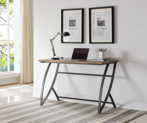 Norwich Desk, Black Metal & Walnut Wood
