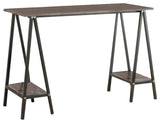 Kennedi Desk, Gray Metal & Wood