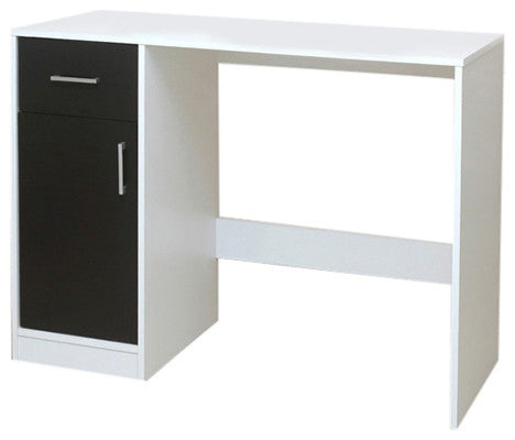 Haifa Desk, White & Black Wood