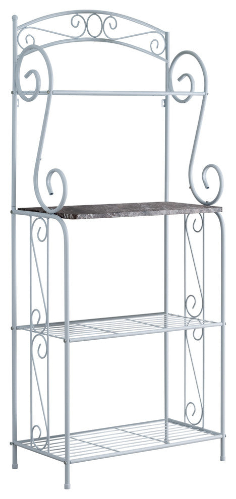 Destin 4 Tier Free Standing Kitchen Bakers Rack White