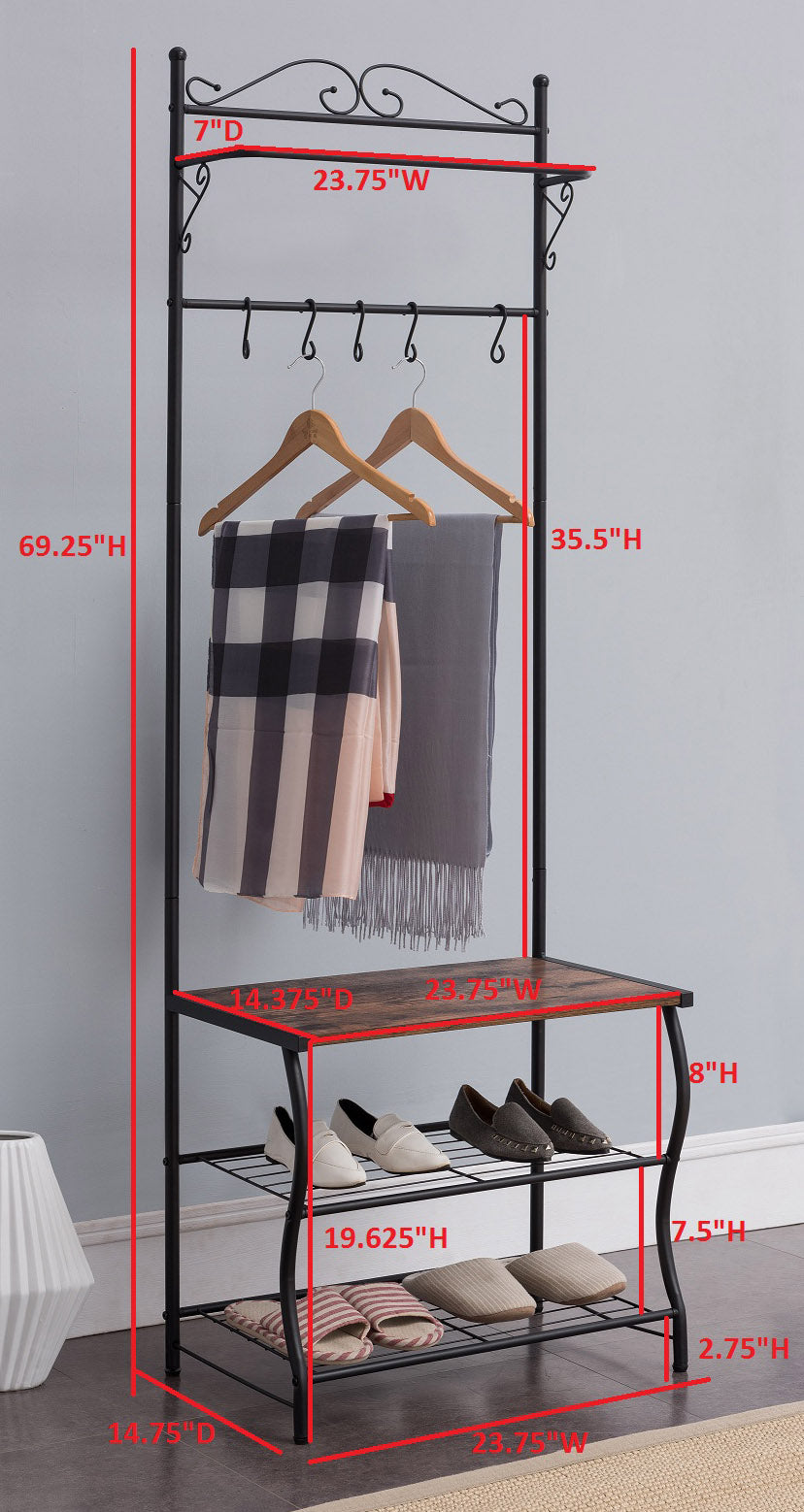 hook racks fremont entryway p shelf prepac the rack mounted espresso coat eec wall in