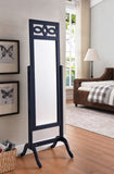 Tia Cheval Floor Mirror, Navy Wood