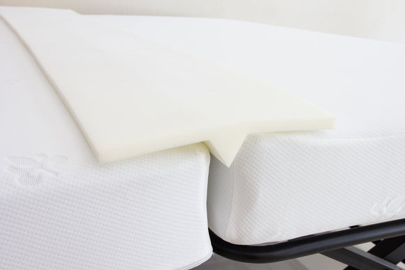 Ress White Foam Bed Joiner, Doubling System, Bridge Mattress Connector - Transforms Two Twin Beds Into An Almost King Size Bed