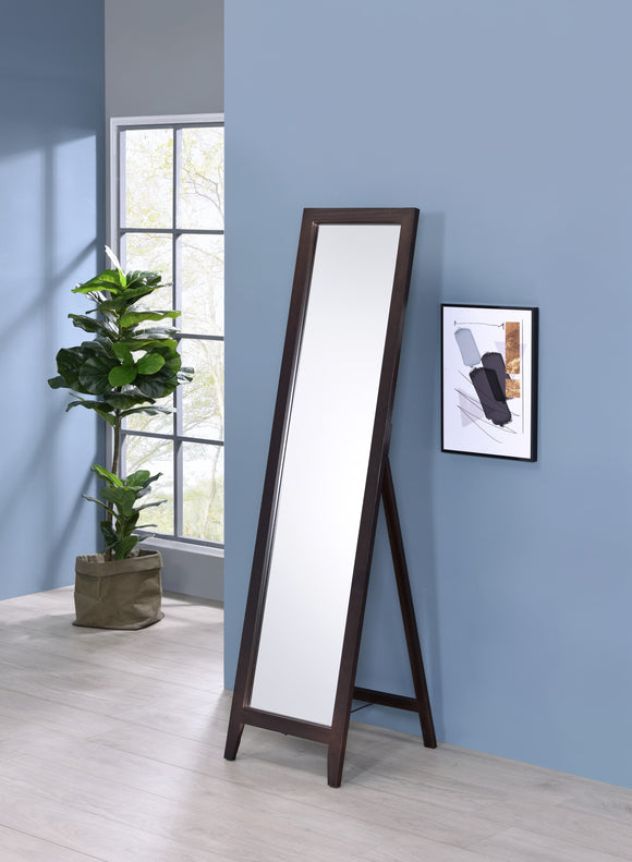 Peta Free Standing Floor Mirror, Walnut Solid Wood