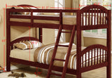 Beth Bunk Bed, Twin, Gray Wood