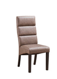 Olivia Dining Chairs, Chocolate Faux Leather & Cappuccino Wood