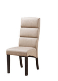 Olivia Dining Chairs, Clay Faux Leather & Cappuccino Wood