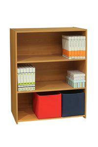 Darrin 3 Tier Bookcase, Light Brown Wood