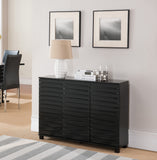 Leina Sideboard Buffet, Black Wood