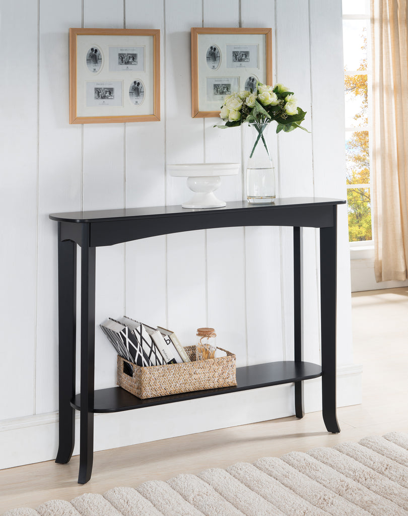 Foyer Storage Console Table : Espresso wood contemporary occasional entryway console